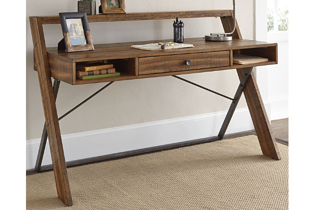 Torjin Home Office Desk by Ashley HomeStore, Light Brown
