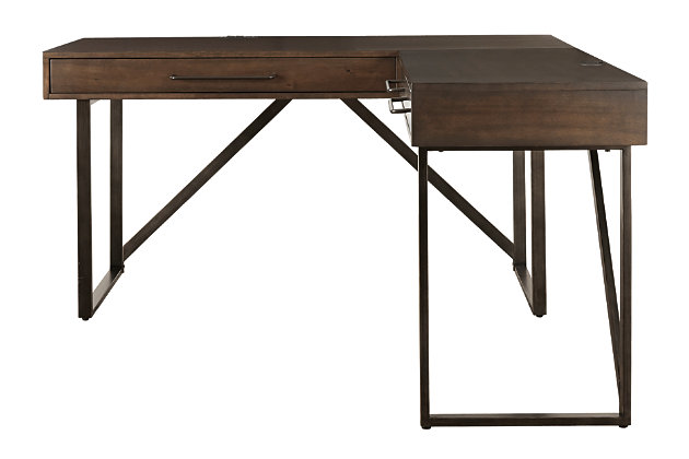Starmore 2 Piece L Shaped Home Office, Ashley Furniture Armoire Desk