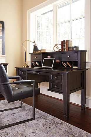 Townser Home Office Desk with Hutch, , large