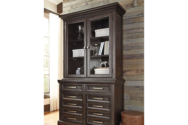 """Townser 45"""" Credenza Hutch, , large"""