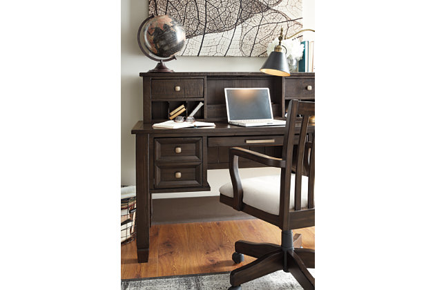 ... Townser Home Office Desk With Hutch, , Large ...
