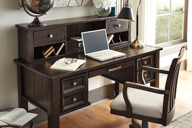 Townser Home Office Desk With Hutch Large