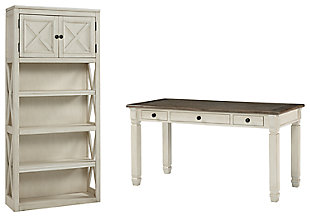 Bolanburg Home Office Desk and Storage, , rollover
