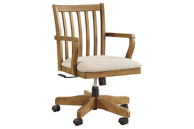 Trishley Home Office Desk Chair by Ashley HomeStore, Light Brown