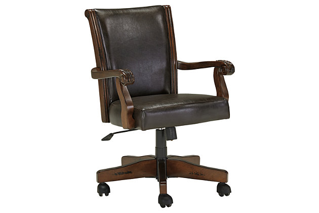 Brown Alymere Home Office Desk Chair by Ashley HomeStore