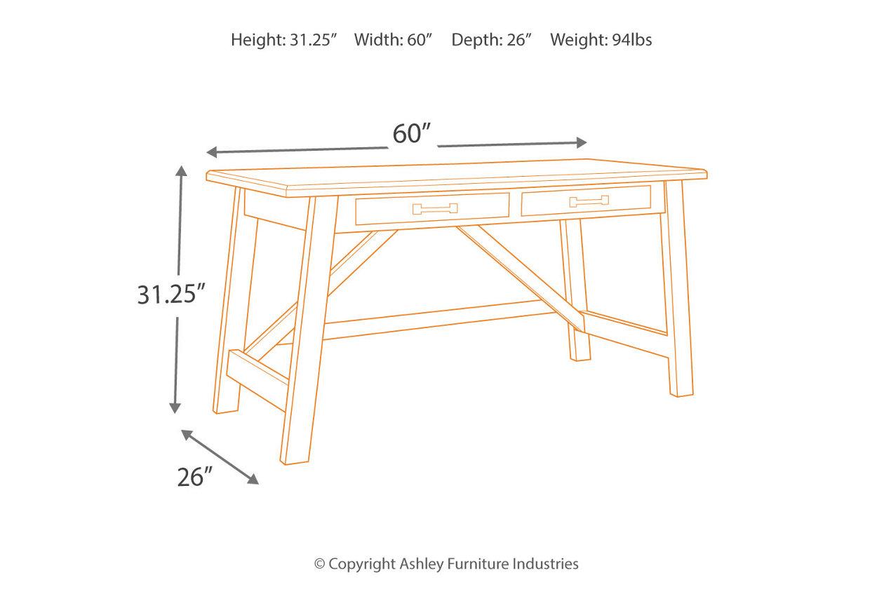 outlet store 1080a ff0c5 Baldridge Home Office Desk   Ashley Furniture HomeStore