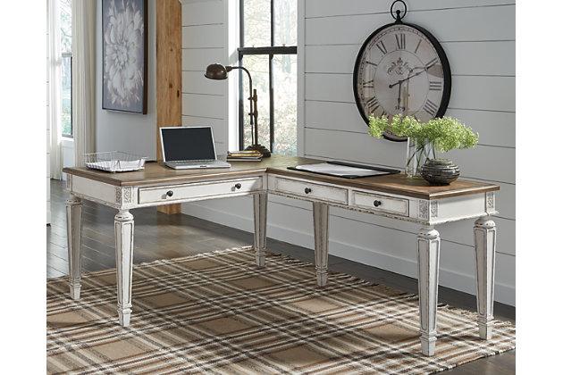 Realyn 2-Piece L-Shaped Home Office Desk