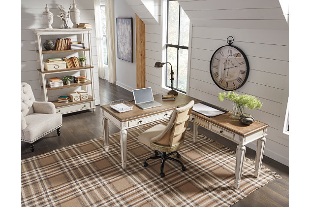 Realyn 2-Piece Home Office Desk, , large