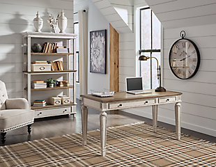 Realyn Home Office Desk and Storage, , large