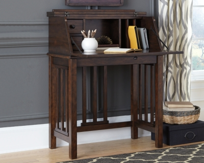 Harpan Home Office Desk by Ashley HomeStore, Reddish Brown