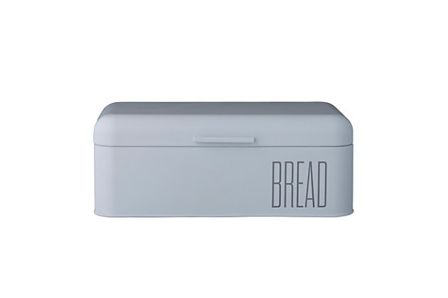 "16-3/4""L x 9""W x 6-1/2""H Metal Bread Bin, Sky Blue, , large"