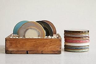 Multicolor Stoneware Trivets (Set of 12 Colors), , large
