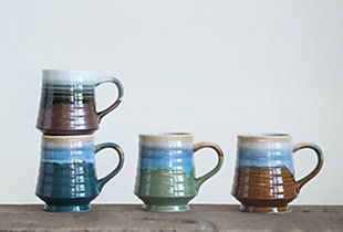 Reactive Glaze Stoneware Mug (Set of 4 Colors), , rollover