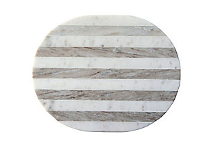 "15""L x 12""W Marble Cheese/Cutting Board, Gray and White Stripe, , large"
