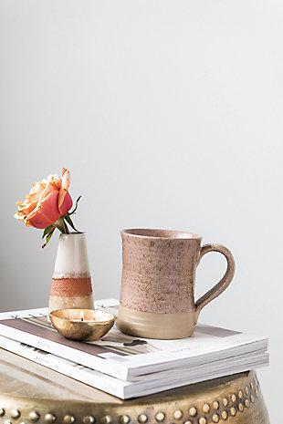 Stoneware Mug with Reactive Glaze Finish (Set of 4 Colors/Each one will vary), , large