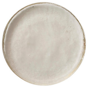 """12"""" Round x 2""""H Recycled Glass Serving Tray/Candle Plate, Clear, , rollover"""