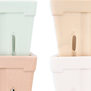 Creative Co-Op Square Stoneware Berry Baskets (Set of 4 Colors), , large