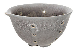 Round Stoneware Berry Bowls with Spouts and Reactive Glaze Finishes (Set of 2 Colors), , rollover