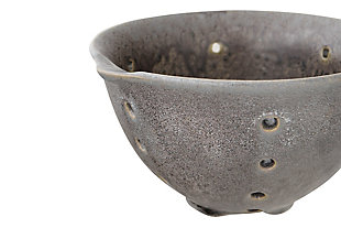 Round Stoneware Berry Bowls with Spouts and Reactive Glaze Finishes (Set of 2 Colors), , large