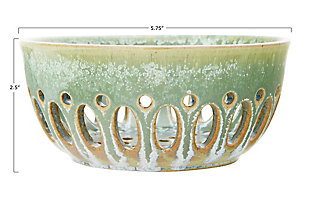 Round Stoneware Berry Bowls with Reactive Glaze Finishes (Set of 2 Colors/Each one will vary), , large