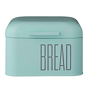 "8"" Square x 5-1/4""H Metal Bread Bin, Mint Color, , large"