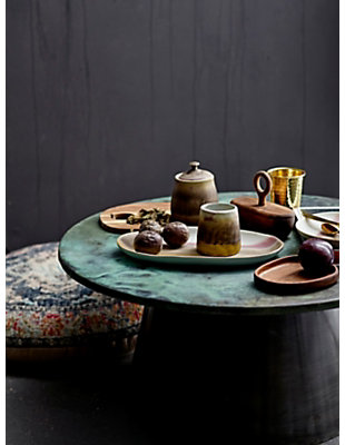 """8"""" Round Stoneware Plate with Reactive Glaze Finish (Set of 4 Pieces / Each one will vary), , rollover"""