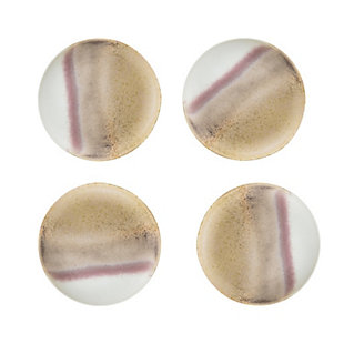 """8"""" Round Stoneware Plate with Reactive Glaze Finish (Set of 4 Pieces / Each one will vary), , large"""
