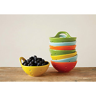 """Creative Co-Op 5-1/4"""" Rnd Stoneware Berry Bowl, 4 Colors, , large"""