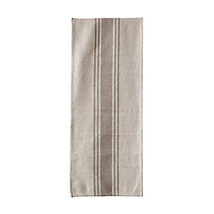 """72""""L x 14""""W Woven Cotton Canvas Table Runner with Stripes, Black, Brown, large"""