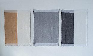 Creative Co-Op Cotton Tea Towels (Set of 3 Designs/Colors), , rollover