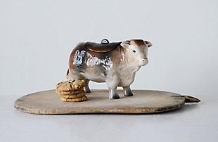 """12-3/4""""L x 5""""W x 7""""H Ceramic Vintage Reproduction Cow Cookie Jar, , large"""