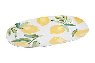 "15""L x 9-1/2""W Stoneware Platter with Lemons, , large"