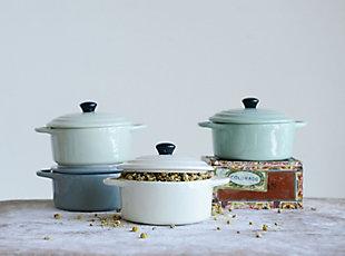 """6-1/2""""L Stoneware Mini Casserole, 4 Colors, , rollover"""