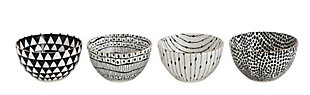 White and Black Bowls with Varying Designs (Set of 4 Designs), , large