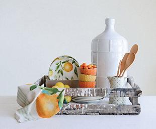 Creative Co-Op Cotton Citrus Fruit Tea Towels (Set of 4 Designs), , rollover