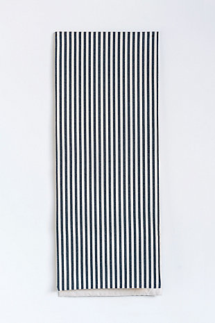 """72""""L x 14""""W Cotton Striped Table Runner, Black, , large"""