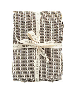 """28""""L x 18""""W Cotton Waffle Weave Tea Towels, Set of 3, , rollover"""
