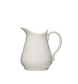 "7-3/4""L x 6""W x 8""H 36 oz. Vintage Reproduction Stoneware Pitcher, White, , large"