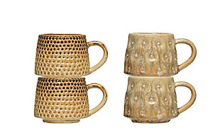16 oz. Texture Stoneware Mug with Reactive Glaze Finish (Set of 2 Patterns), , large