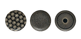 "5"" Round Stoneware Plate (Set of 3 Patterns), , large"