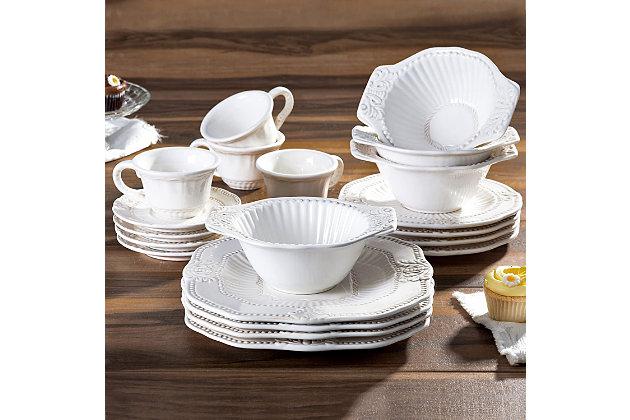 American Atelier Baroque 20-Piece Dinnerware Set, , large