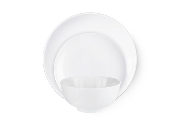 American Atelier Bistro White 12-Piece Dinner Set, White, large