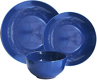 American Atelier Bistro Cobalt Blue 12-Piece Dinner Set, Blue, large