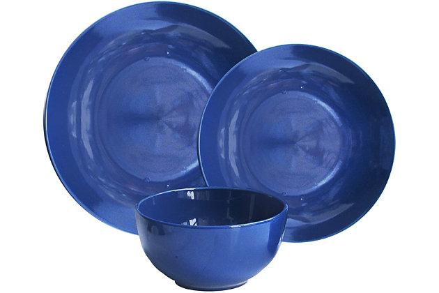 American Atelier Bistro Cobalt Blue 12-Piece Dinner Set, Blue, large