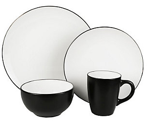 American Atelier Bistro White/Black 16-Piece Set, , large