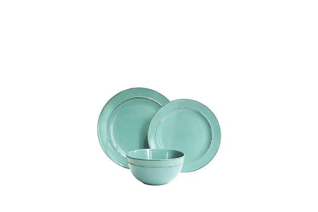 American Atelier Olivia Seafoam 12-Piece Dinner Set, , large