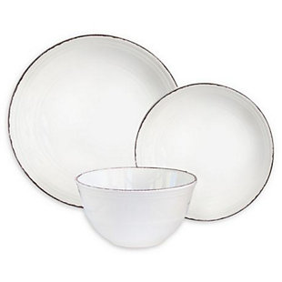 American Atelier Madelyn White 12-Piece Dinner Set, , rollover