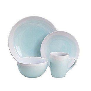 American Atelier Oasis Mint/White 12-Piece Dinner Set, , rollover