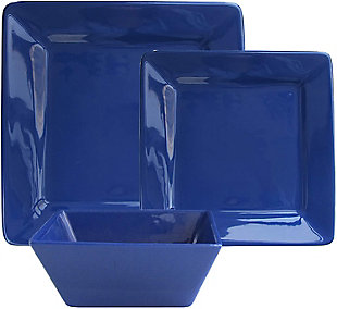 American Atelier Kingsley Cobalt 12-Piece Dinner Set, , large