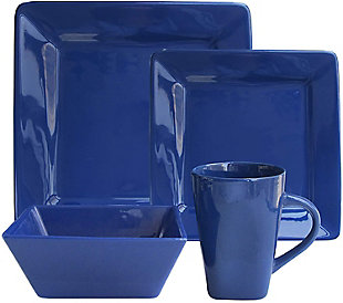American Atelier Kingsley Cobalt 16-Piece Dinner Set, Blue, rollover